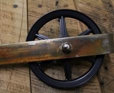Rebarn - Sliding Barn Doors - Toronto - Barn Door Hardware - 6 Inch Carriage House Rusted Finish