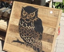 Owl-On-Barn-Board