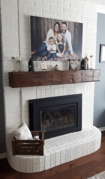 Custom Barn Beam Mantel