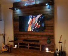 Media Console and Wall Panel