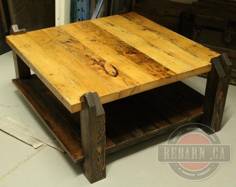 Custom furniture rebarn toronto sliding barn doors for Barn board coffee table