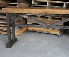 Barn-Board-Trestle-Console-Table