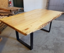 Live Edge Eln On Metal Base