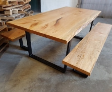 Live Edge Maple Table and Benches