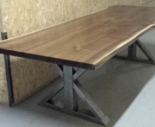 Live-Edge-Walnut-Dining-Table-With-Steel-Trestle-Legs