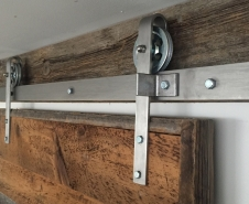 Economy Barn Door Hardware Stainless
