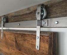 Economy Barn Door Hardware Stainless