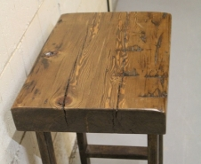 Rusted-Iron-And-Barn-Beam-Skin-End-Table