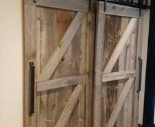 Bypass Grey Barn Board Barn Doors