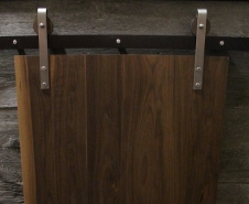 Contemporary Walnut Panel Door With Artisan Hardware