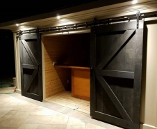 Pool Shed Barn Doors