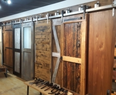 Rebarn Barn Door Store Display