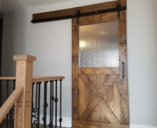 Half X Half Glass Barn Door