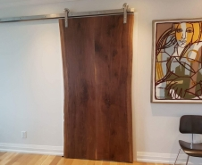 Live Edge Walnut Barn Door