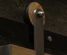 Wormy Maple Artisan Barn Door Hardware