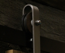 Walnut Artisan Barn Door Hardware
