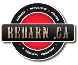 Rebarn Logo - Rebarn is a Toronto artisan studio providing salvaged wood furniture, barn doors, barn door hardware, barn beam mantels, barn board sales and sawmill service