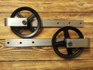 Barn Door Hardware Six Inch Stainless Steel Powder Coat Combo 4