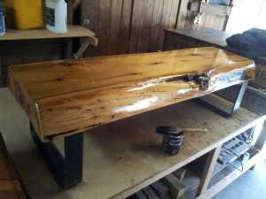 Cedar Slab Bench 8