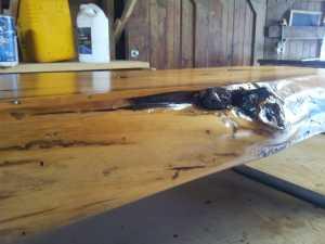 Cedar Slab Bench 9