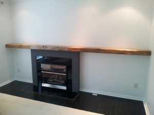 Twelve Foot Slab Fireplace Mantel