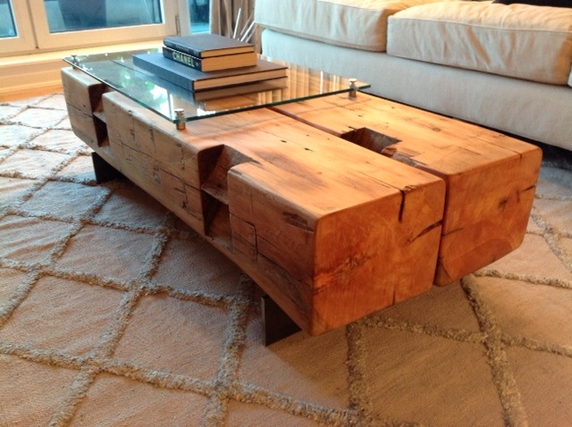 Twin Barn Beam Coffee Table Rebarn Toronto Sliding