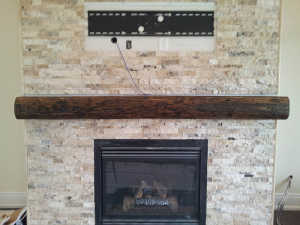 Oak Barn Beam Mantel