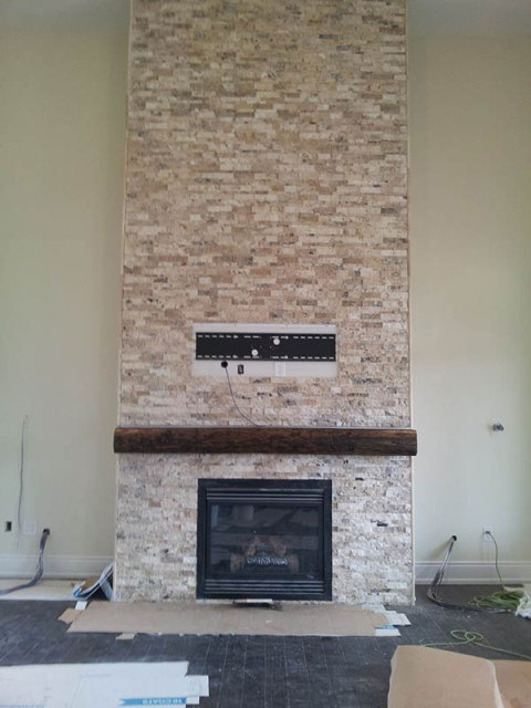 Oak Barn Beam Mantel Rebarn Toronto Sliding Barn