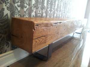 White Oak Barn Beam Hallway Bench
