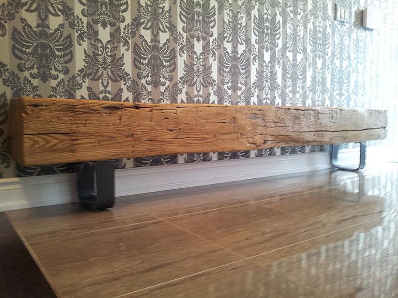 Foyer Bench Toronto : White oak barn beam hallway bench rebarn toronto