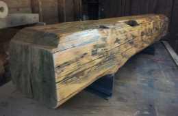 Contemporary-Barn-Beam-TV-Stand-Bench-1