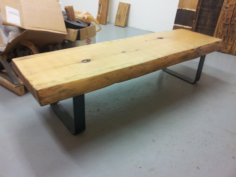Live Edge Pine Slab Coffee Table 1