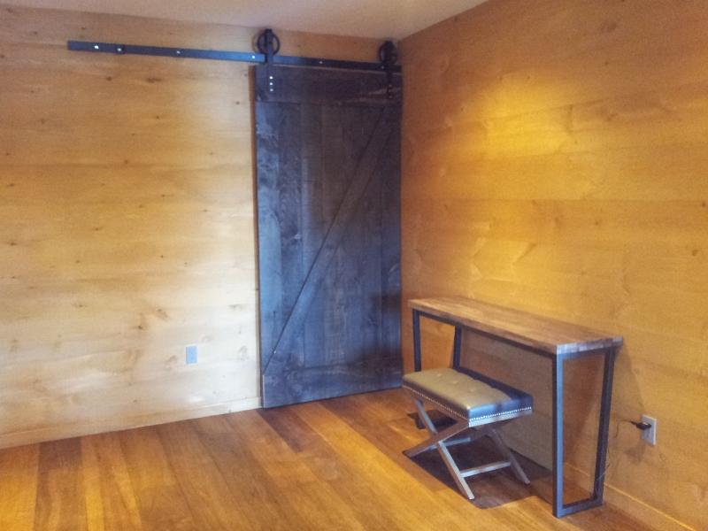 Finished Door Custom Sliding Door & Hardware supplied by: Rebarn.ca
