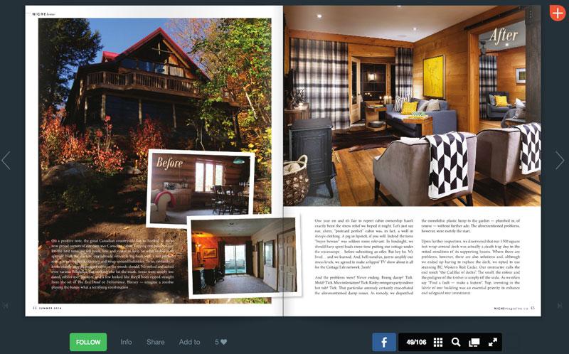 Rebarn Featured in Niche Magazine