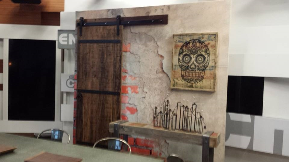 barn door and console featured on cityline dec 1 2014