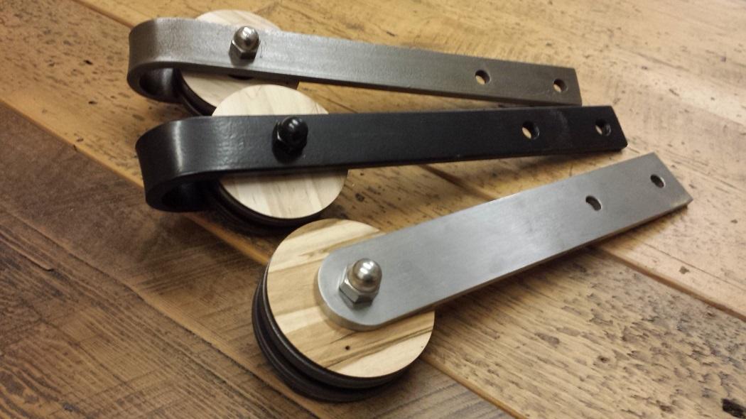 wood on steel