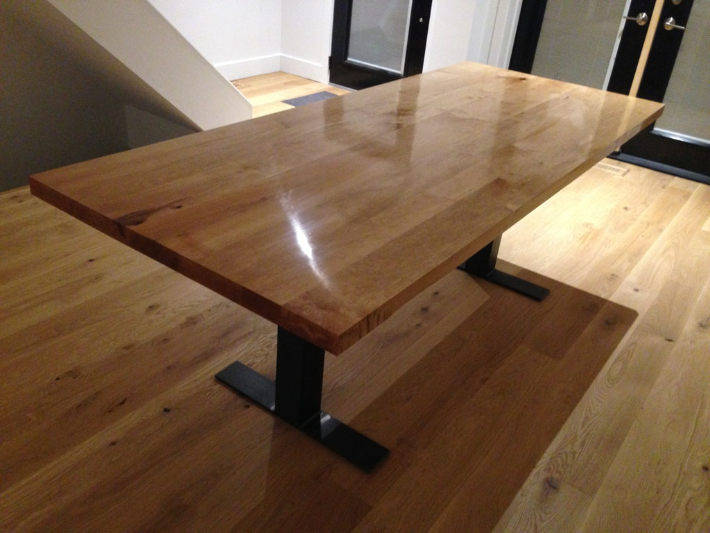 custom built maple dining table by rebarn rebarn toronto