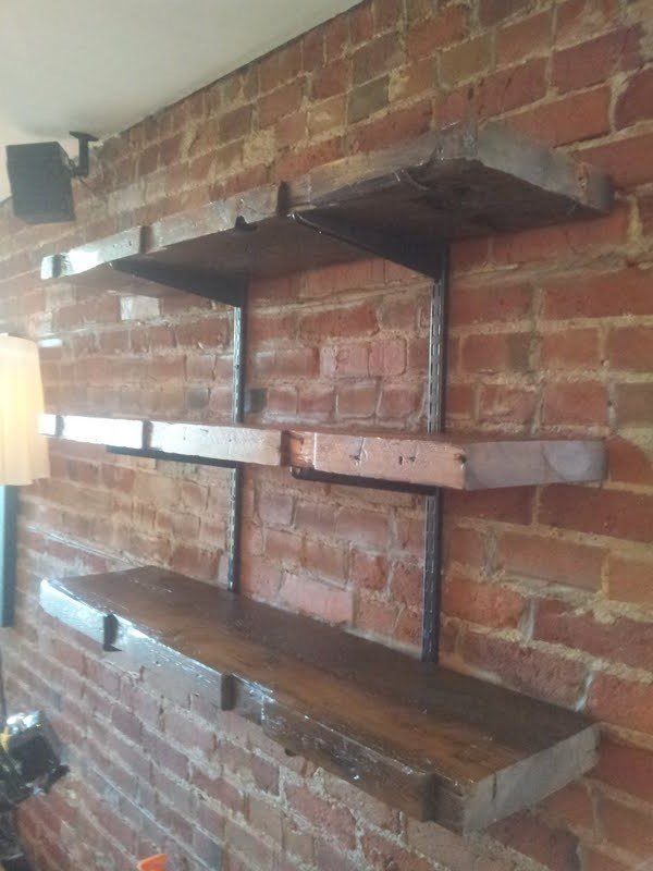 Reclaimed Truss Shelving Rebarn Toronto Sliding Barn
