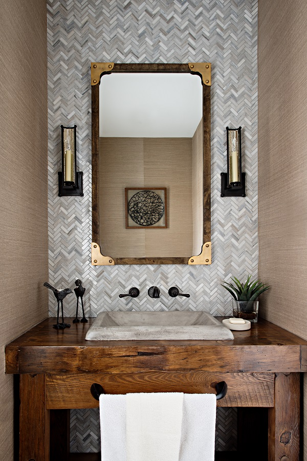 Reclaimed Barn Wood Vanity For Gabriele Pizzale Design
