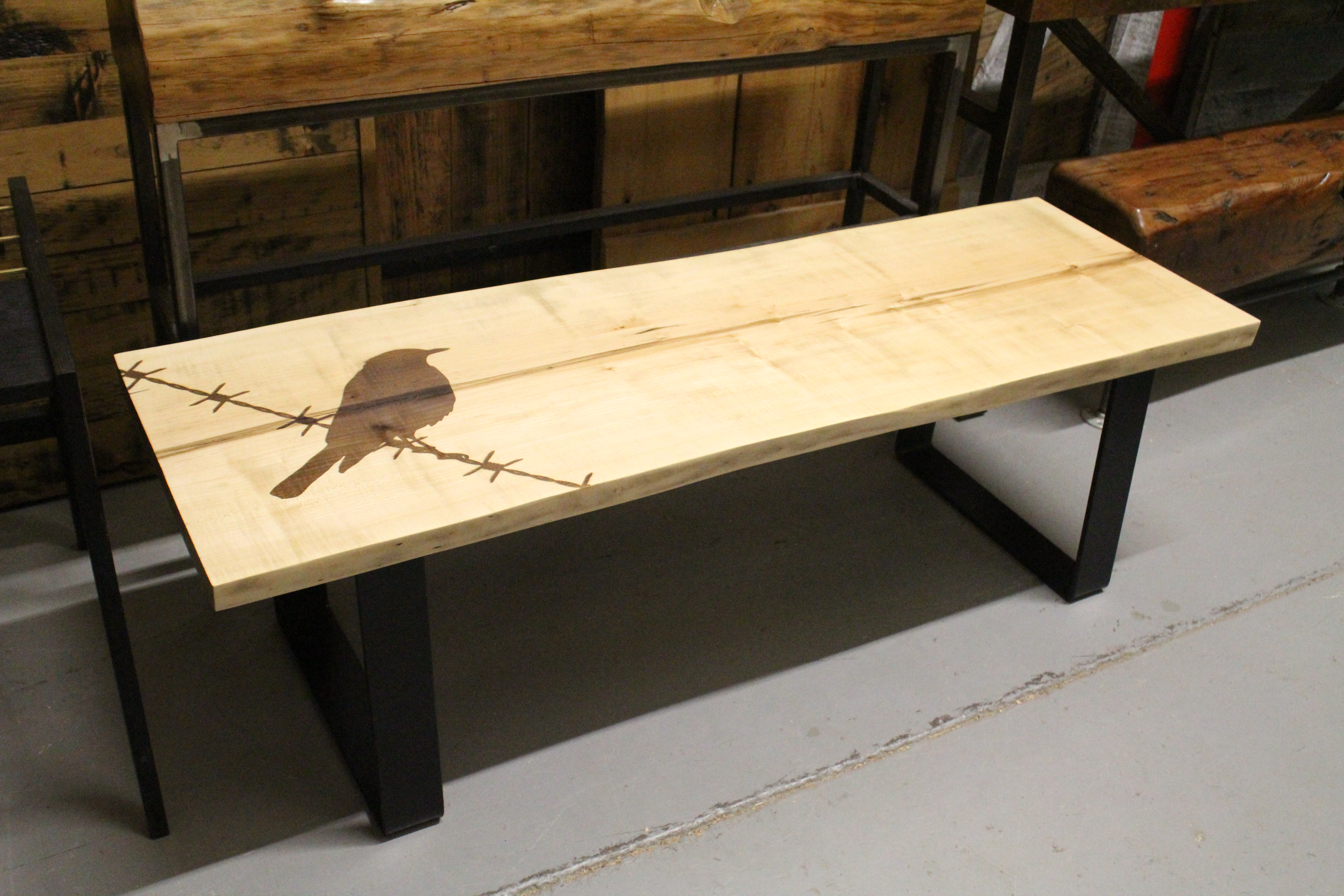 Maple Live Edge Coffee Table Goes To The Birds Rebarn