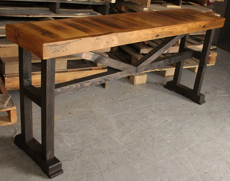 Barn Board Trestle Console Table By REBARN!