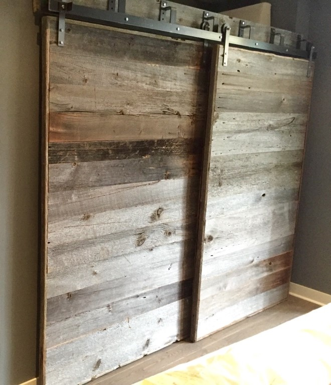 Bypass Barn Doors In Grey Barn Board Rebarn Toronto