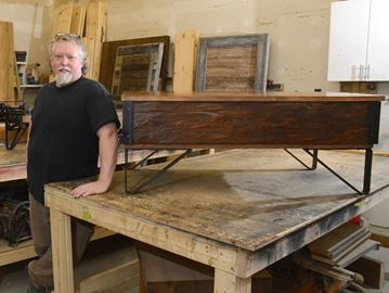 Furniture created at Mark Livingston's Rebarn is set to appear on the Cottage Life Network's, 'Colin and Justin's Cabin Pressure' series.