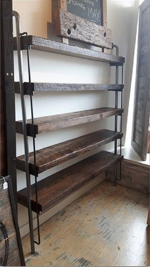 Custom Reclaimed Wood Shelves Rebarn Toronto Sliding