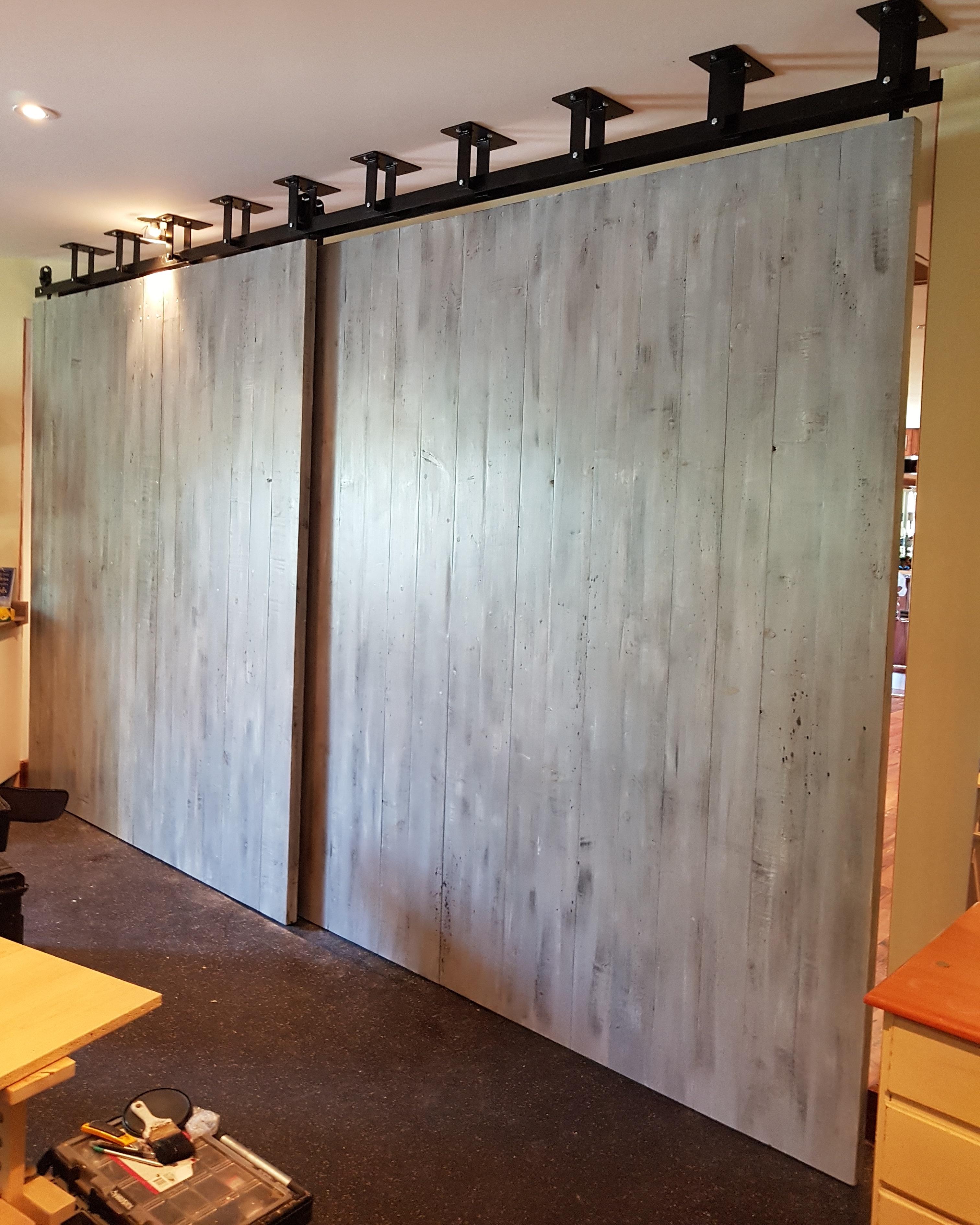 CEILING MOUNTED BARN DOORS! | Rebarn, Toronto, Sliding Barn ...
